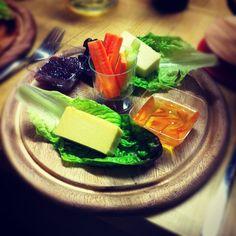 Starter of Vegan Cheese and Chutney - Pomodoro E Basilico #Vegan Supper Club
