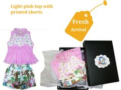 #tomatyourhome THE WAIT IS OVER  LIGHT- PINK TOP WITH PRINTED SHORTS PRICE- 1100/- ONLY FRESH ARRIVAL