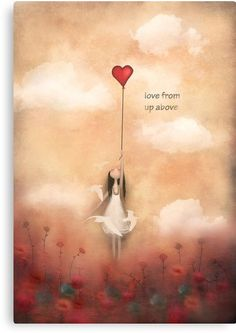 love from up above :) from my heart balloon collection of paintings inspired by love ,life, and freedom -acrylic on canvas / Copyright © Amanda cass. All rights reserved My images may not be reproduced in any form without my written permission. Art Painting, Illustration, Drawings, Fantasy Art, Painting, Whimsical Art, Heart Art, Angel Art, Love Art