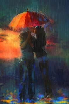 : Kissing under an umbrella Claudia Lucia McKinney ~ Cover artist