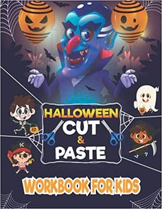 Halloween Cut & Paste Workbook For Kids: Halloween Coloring and Cutting Activity Book for Kids: House, Rana Halloween: 9798486191015: Amazon.com: Books