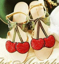 Morpheus Boutique – Lovely Cherry Decor Designer Sandals Design works No.62 | Fashion design shoes