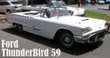Ford Thunderbird 59 convertible. White color