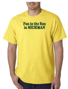 Unisex Heavy Weight Cotton T-Shirt (Gildan) - Fun in the Sun in Michigan - green