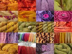 tolleübersicht über verschiedene färbematerialien!Wolle Natur Farben: Meine Färbungen mit Naturfarben