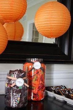 orange paper lanterns... good idea