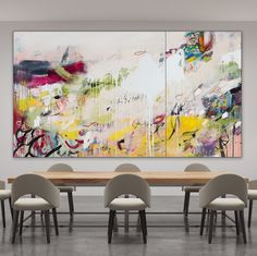 "Available: FLUX | 60""x108""x1.5"" diptych 