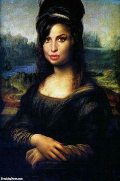 Moaner Lisa by NanaNooch Amy Winehouse, Famous Artists Paintings, New Artists, Mona Lisa Parody, Pix Art, Renaissance Artists, Song Of The Year, Arte Pop, Cultura Pop