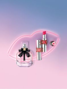 Get high on love with Yves Saint Laurent! Discover the intriguing freshness of NEW Mon Paris Eau de Toilette and add NEW Volupté Tint-In-Balm lipstick for a kiss of colour AND melt-on-mouth nourishing care.