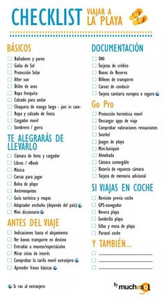 liste-vacances-plage……re pinned by Maurie Daboux ╰☆╮ Plus Travel Packing, Travel Tips, Vacation Travel, Summer Travel, Travelling Tips, Traveling, Travel Essentials, Travel Around The World, Places To Travel