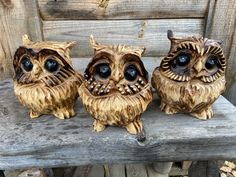 Owl Ornament, Bear Photos, Beautiful Owl, Chainsaw, Camel, Art Pieces, Wood Carvings, Banks, 6 Inches
