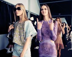 Roberto Cavalli Spring 2015 Backstage. Photo by Taylor Jewell.
