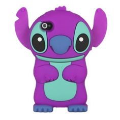 Cute Disney 3D Stitch with Movable Ears Silicone Soft Case Cover for iPhone4/4S - Disney iPhone Cases - iPhone Cases