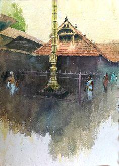 Indian Theme, Art Village, Madhubani Art, India Art, Art Corner, Indian Art Paintings, Watercolour Art, Siri, Kerala