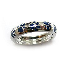 084513050 Hidalgo Blue Paw Print Enamel Band State Jewelry, Wedding Rings, Engagement  Rings, Gifts