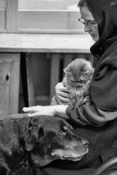 Orthodox Christian nun (and kitty)
