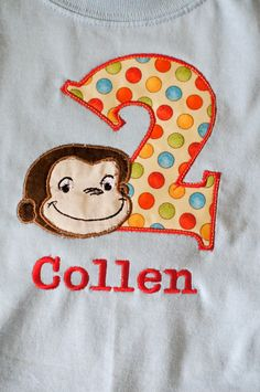 OMg i WANT it!!!    Curious George birthday tee by ItsMyFavorite on Etsy, $18.00