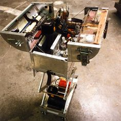 This is Adam Savage's toolbox from his model-making days. He'd have two of these scissor-lifting boxes at his sides, allowing him to quickly whip out whatever tool was needed. Building such a system is an organic process, so don't be afraid to switch things up as needed.