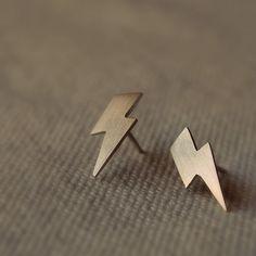 Lightning Bolt Stud Earrings! $35 I so want this!!