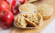 Voici la recette ww des Muffins aux pommes, un dessert allégé et facile à base de pomme, fruit incontournable pour préparer de délicieux desserts.