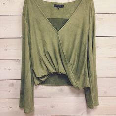 This suede top is perfection!!