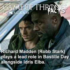 Game Of Thrones Facts, Bastille Day, Richard Madden, Lead Role, Acting, Games, Movie Posters, Fictional Characters, Instagram