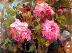"""Daily Paintworks - """"The Logic of a Summer Garden II 20x16"""" - Original Fine Art for Sale - © Ann Feldman"""