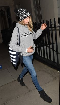 Cara Delevingne arriving home in London, England - 07/07/2014