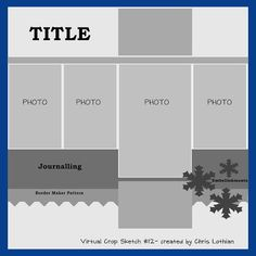 Multi Photo Layout for 4 photos - great for sequencial photos