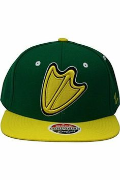 NCAA Oregon Ducks Refresh Snapback Cap, Kelly Green/Gold by Zephyr. $23.95. Adjustable snapback hat. Memory visor. 65% Acrylic / 35% Wool. Officially licensed hat. Zephyr snapbacks are constructed to meet the desires of the consumer. Zephyr hats feature professional embroidery and detailed raised logos. The Zephyr Memory Visors are constructed with the best materials allowing you to bend the brim or keep it flat.  About Zephyr Zephyr was established in 1993 by former retaile...
