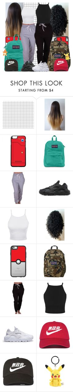 """Pokemon hunting"" by msixo ❤ liked on Polyvore featuring JanSport, CO, NIKE, LE3NO and Casetify"