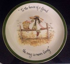 A personal favorite from my Etsy shop https://www.etsy.com/listing/467471829/holly-hobbie-porcelain-collectors-plate
