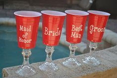 We can personalize them in any way. Camping Party Decorations, Camping Parties, Sports Decals, Vinyl Decals, Wedding Cups, Wedding Ideas, Red Solo Cup, Redneck Humor, Turning 50