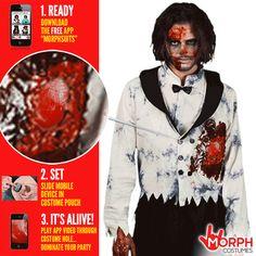 *CLEARANCE* Pink Morph Second Skin Men/'s Fancy Dress Costume Smiffys