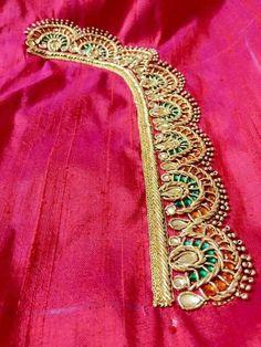 Blouses for women – Lady Dress Designs Wedding Saree Blouse Designs, Saree Blouse Neck Designs, Stone Work Blouse, Maggam Work Designs, Simple Blouse Designs, Blouses For Women, Aari Embroidery, Embroidered Blouse, Designers