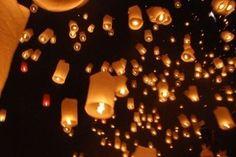 Paper Floating Lantern White Chinese Sky Flying Balloon Party Festival Wedding | eBay