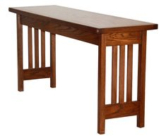 Console Table in Mission Style.