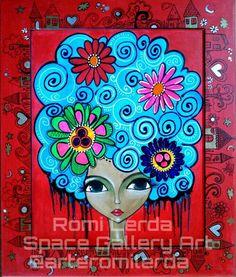 ROMI LERDA - Buscar con Google Love Painting, Painting & Drawing, Illustrations, Portrait Art, Face Art, Mixed Media Art, Art Tutorials, My Drawings, Pop Art