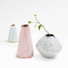 Exclusively at ABC, these hand-formed ceramics by Icelandic artist Bjarni Sigurdsson are finished in a natural glaze made from the volcanic ashes of the Eyjafjallajökull eruption. Hauntingly beautiful in an array of colors, these pieces emanate the energies of natural geothermic phenomena.