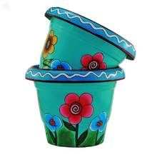 buy ceramic daisy tea cup and saucer planter at. Black Bedroom Furniture Sets. Home Design Ideas