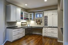 Craft room in a basement. Basement remodeling project in Vienna, Virginia by Rendon Remodeling & Design www.rendonremodel...