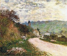"""The Route a Vetheuil"" ・by Claude Monet ・ Completion Date: 1878 ・ Style: Impressionism ・ Genre: landscape Claude Monet, Pierre Auguste Renoir, Edouard Manet, Monet Paintings, Landscape Paintings, Landscapes, Artist Monet, Beaux Arts Paris, Art Japonais"