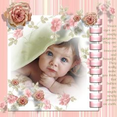 Scrapbooking Layouts Baby Scrapbook max! sample layout #