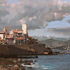antibes Antibes, Landscape Art, Gallery, Painting, Roof Rack, Painting Art, Paintings, Painted Canvas, Drawings