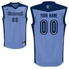 adidas Memphis Grizzlies Custom Replica Alternate Jersey