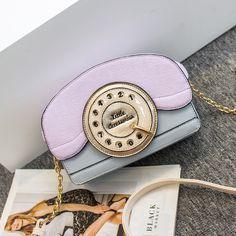Bolsa Feminina Design Retro Telefone moda Bolsas Divertidas Bolsas Divertidas
