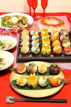 親子手毬寿司作り☆雛祭り2012 - ぱおのおうちで世界ごはん☆