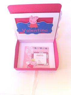 Invitación Box Peppa Pig
