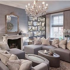 Living Room Home Inspirations Cozy Living Rooms, Living Room Modern, My Living Room, Home And Living, Living Room Designs, Living Room Decor, Living Spaces, Sitting Rooms, Interior Exterior
