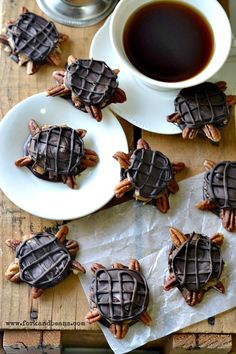 Chocolate Turtles {Gluten-Free, Vegan}